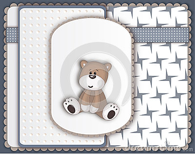 Cute Teddy Bear greeting card