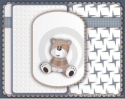 Cute Teddy Bear greeting card