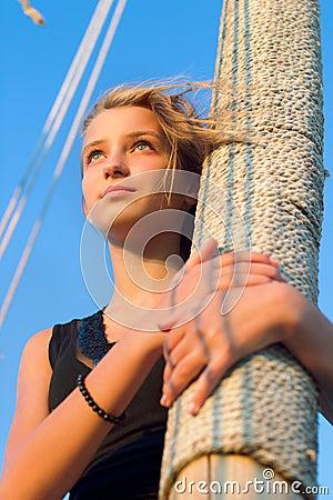 Cute teen girl outdoors