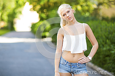 Natural blonde teen