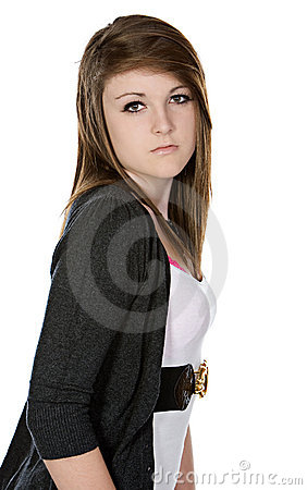 Cute Teenager Looking Into The Camera Royalty Free Stock Photos - Image: 9124588