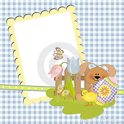 Cute Template For Easter Postcard Photo Image 19507680 – Easter Postcard Template