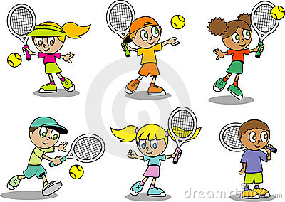 Cute tennis Kids
