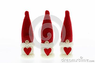 Cute three Santa s Christmas decoration