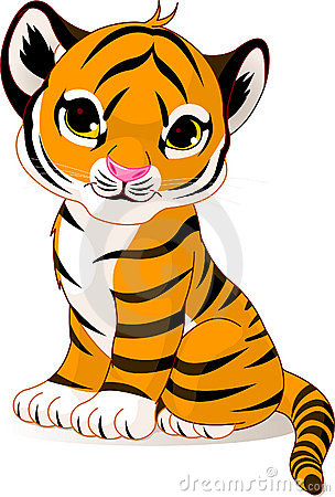 Free Cute Tiger Cub Royalty Free Stock Image - 11743886