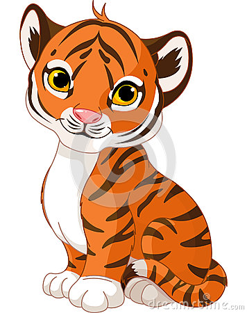 Free Cute Tiger Cub Stock Photography - 26780082