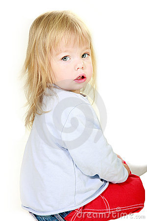 Cute toddler girl portrait