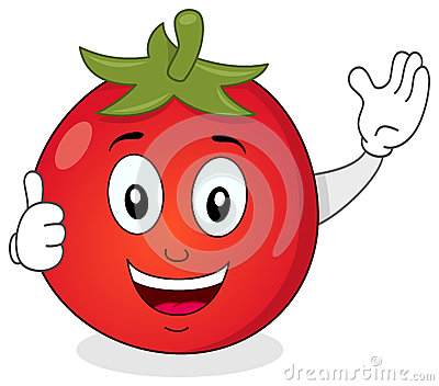 Cute Tomato with Thumbs Up Character