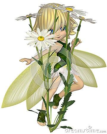 Cute Toon Daisy Fairy, Skipping