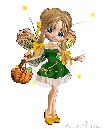 Free Cute Toon Easter Fairy - 1 Stock Photos - 13642143