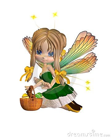 Cute Toon Easter Fairy - 2