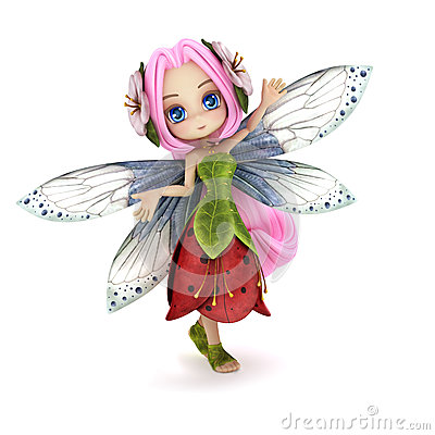 Cute toon fairy posing