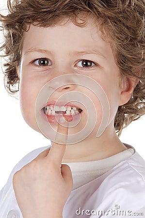 Cute toothless boy