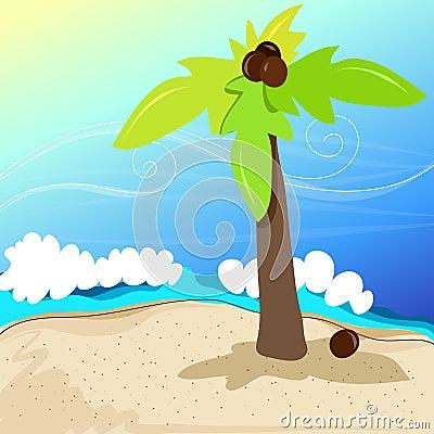 Cute tropical beach