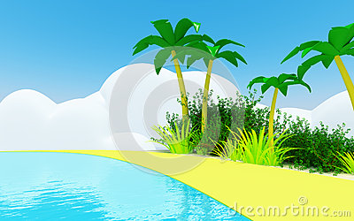 Cute tropical coast