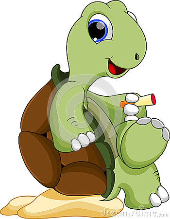 Cute turtle being smoked