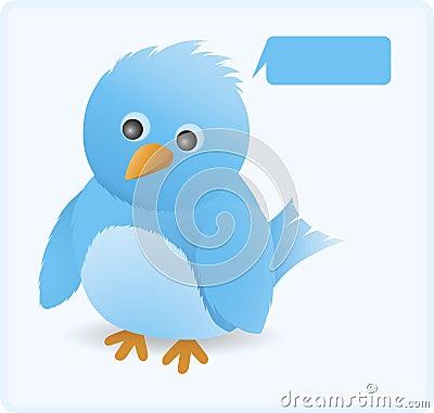 Cute twitter bird