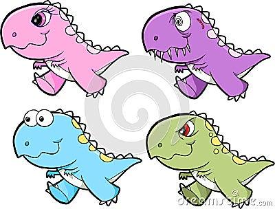 Cute Tyrannosaurus Rex Dinosaur Set