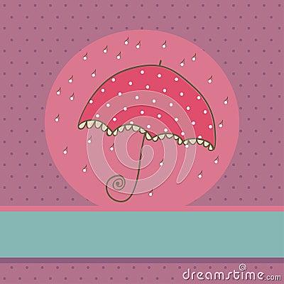 Cute Umbrella card