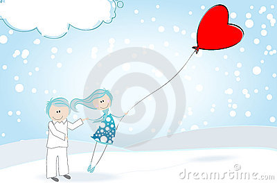 Cute Valentine s Day boy and girl
