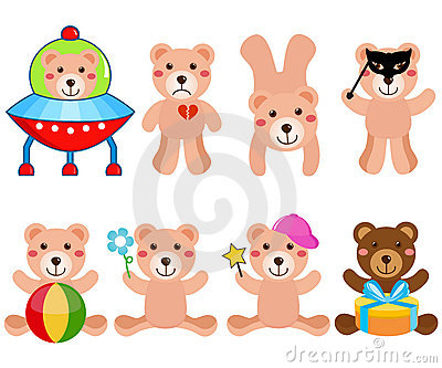 A cute Vector set : Bears