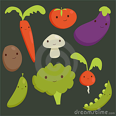 Cute vegetable characters