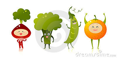 Cute vegetables