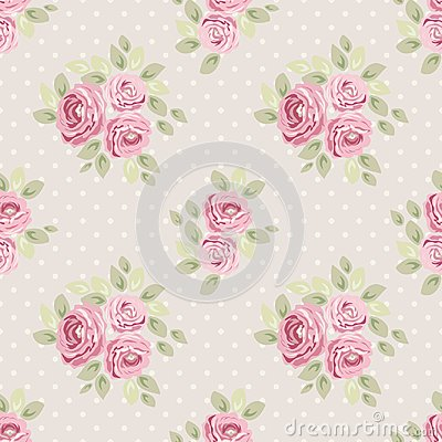 Free Cute Vintage Seamless Shabby Chic Floral Patterns For Your Decoration Stock Photos - 106944223