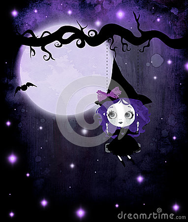 Cute Violet Witch