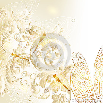 elegant wedding floral background with ornament and