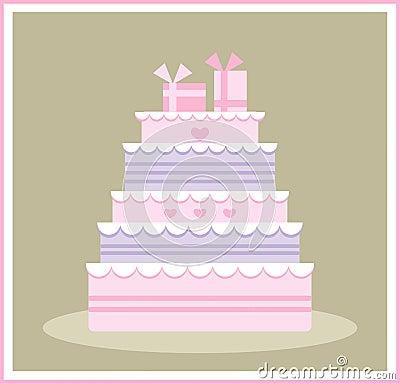 Cute wedding/birthday cake