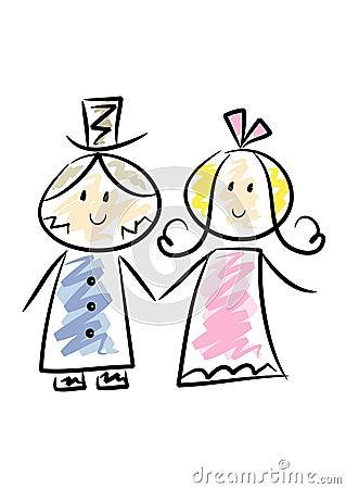Cute Wedding Couple Royalty Free Stock Photos - Image: 13178998