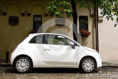 Cute white car