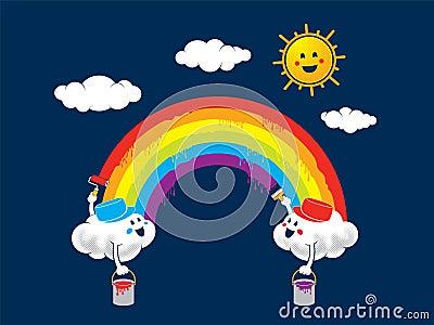 Rainbow paint Vector Illustration