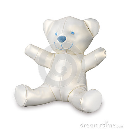 Cute, white, satin teddy