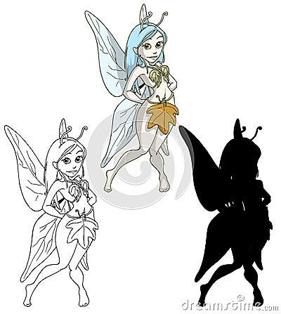 Cute winter fairy
