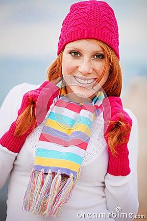 Cute winter girl