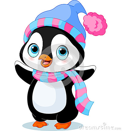 Free Cute Winter Penguin Royalty Free Stock Images - 35929849