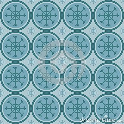 Cute winter snowflakes pattern