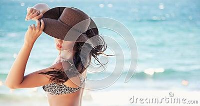 Cute woman in hat