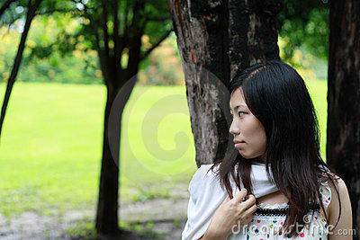 Cute woman in the park