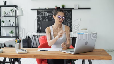 trendy office. Exellent Trendy Cute Woman Working In Trendy Office Stock Video  Of Journalist  Network 96167807