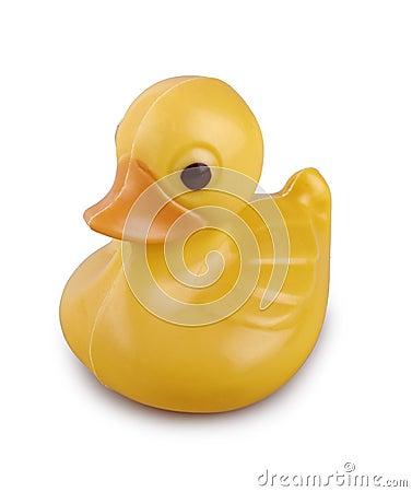 Cute yellow chocolate duck