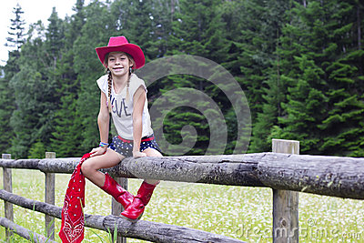 Cute young cowgirl portrait