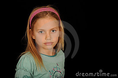 Cute young girl portrait