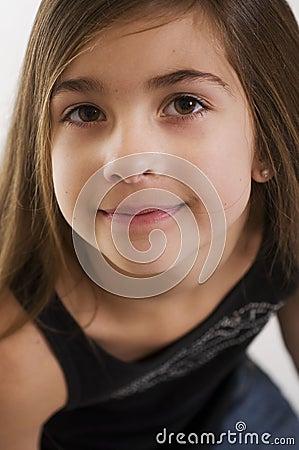 Cute young girls face