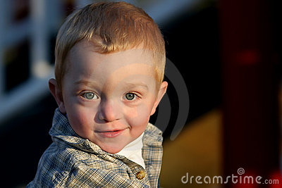 Cute young redheaded boy