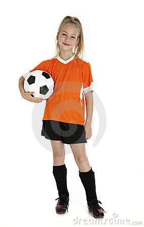 Free Cute Young Soccer Player Stock Photography - 21948302