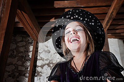 Cute Young WitchLaughing
