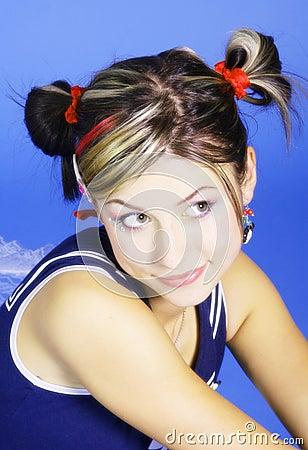 Cute young woman